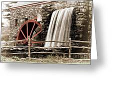 Waterfall At The Mill Greeting Card