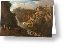 Waterfall At Tivoli Greeting Card