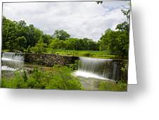 Waterfall At Valley Creek Near Valley Forge Greeting Card