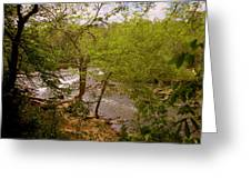 Waterfall At West Point Greeting Card