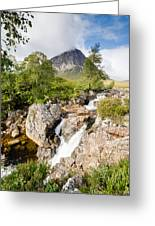 Waterfall Below Stob Dearg Greeting Card