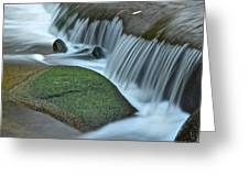 Waterfall Close Up Greeting Card