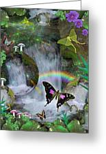 Waterfall Daydream Greeting Card by Alixandra Mullins