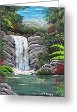 Waterfall Fantasy Greeting Card