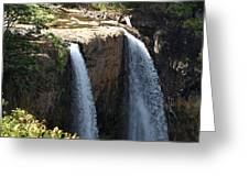 Waterfall From The Top Greeting Card