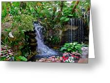 Waterfall Garden Greeting Card