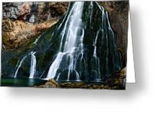 Waterfall In Austria Panorama Greeting Card