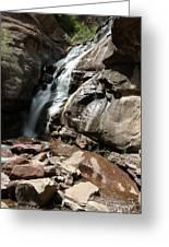 Waterfall In Colorado Greeting Card