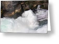 Waterfall In Neuhausen Near Schaffhausen Greeting Card