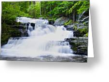 Waterfall In The Pocono Mountains Greeting Card