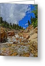 Waterfall In The Rockies Greeting Card
