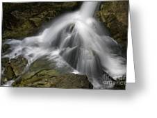 Waterfall In The Rocks Greeting Card