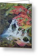 Japanese Waterfall Greeting Card