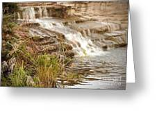 Waterfall Greeting Card by Kimberly  Maiden