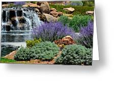 Waterfall Lanscape Greeting Card