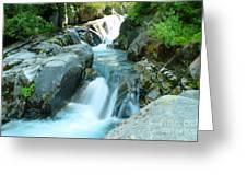 Waterfall Near Paradise Greeting Card
