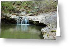 Waterfall On Piney Creek Greeting Card