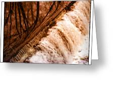 Waterfall On The Assabet River Greeting Card