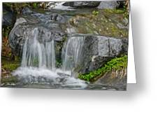 Waterfall On The Paradise River Greeting Card