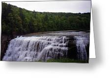 Waterfall On The River Greeting Card