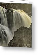 Waterfall On The Rocks Greeting Card