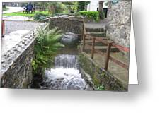 Waterfall Outside The Fish Place In Ballykissangel Greeting Card
