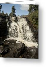 Waterfall Greeting Card by Peter Cassidy