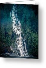 Waterfall Princess Louisa Inlet Greeting Card