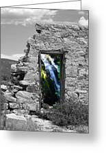 Waterfall Through The Magic Door Greeting Card