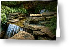 Waterfall Greeting Card by Tom Mc Nemar
