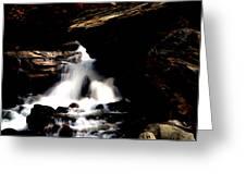 Waterfall- Viator's Agonism Greeting Card by Vijinder Singh