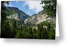 Waterfall, Yosemite Valley, Yosemite Greeting Card