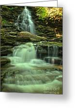 Waterfalling Through Ricketts Glen Greeting Card