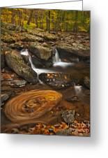 Waterfalls And Swirl Greeting Card