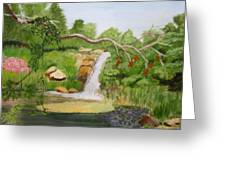 Waterfalls At Red Butte Garden Greeting Card