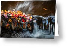 Waterfalls Childs National Park Painted    Greeting Card