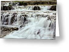 Waterfalls Flowing Greeting Card