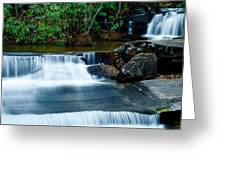 Waterfalls Of Carreck Creek Greeting Card