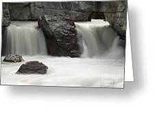 Waterfalls On Nigel Creek Greeting Card