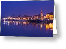Waterford Skyline Along River Suir Greeting Card