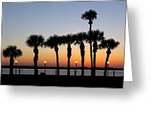 Waterfront After Dark Greeting Card