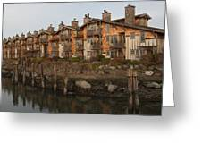 Waterfront Apartments Greeting Card by Gordon  Grimwade
