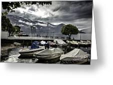 Waterfront At Ascona Greeting Card