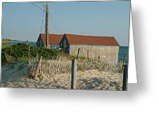 Waterfront Beach Cottages Greeting Card