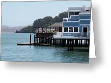 Waterfront Dining Greeting Card