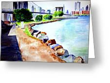 Waterfront In Dumbo Greeting Card