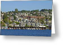 Waterfront Living On Lake Union Greeting Card