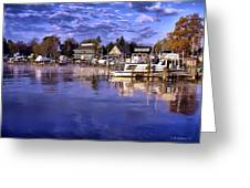Waterfront Morning Greeting Card