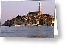 Waterfront, Rovinj, Croatia Greeting Card