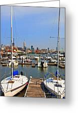 Waterfront View Hoboken Greeting Card